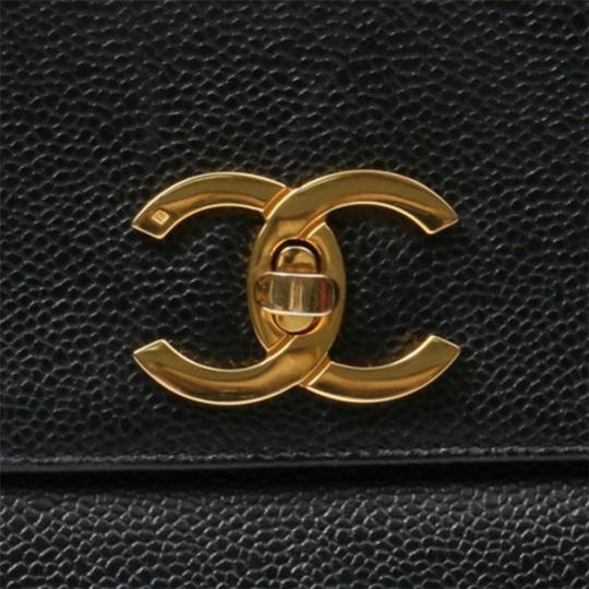 Chanel Vintage Caviar Shoulder Tote in black Image 4