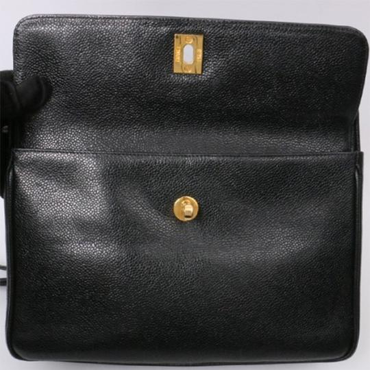 Chanel Vintage Caviar Shoulder Tote in black Image 6