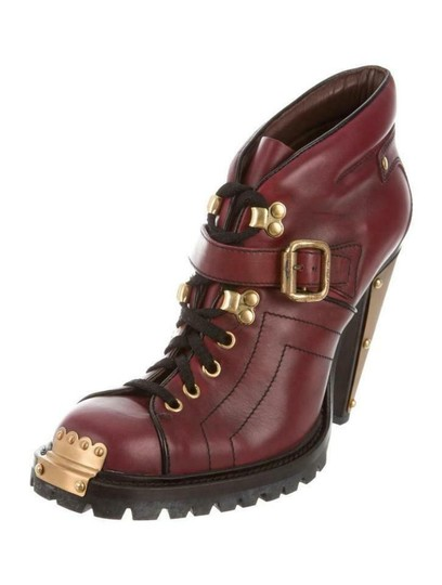 Preload https://img-static.tradesy.com/item/25947201/miu-miu-red-burgundy-leather-metal-plated-belted-lace-up-heel-ankle-bootsbooties-size-eu-39-approx-u-0-0-540-540.jpg