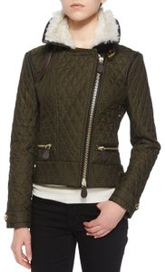 Burberry Gold Hardware Quilted Nova Check House Check Plaid Multicolor Jacket