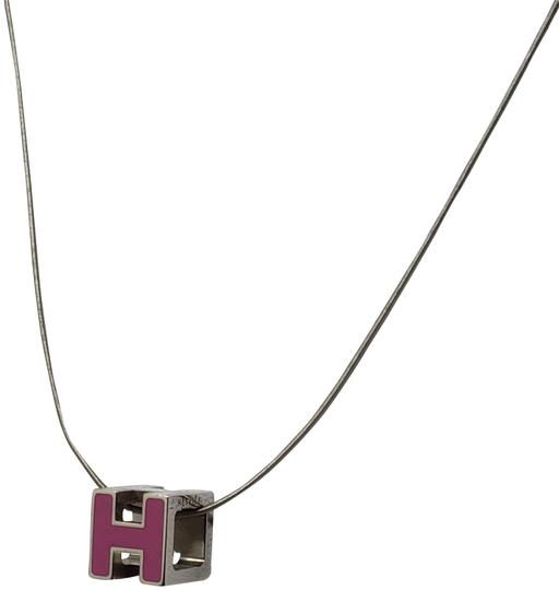 Preload https://img-static.tradesy.com/item/25947231/hermes-silver-palladium-plated-cage-d-h-pendant-necklace-0-5-540-540.jpg