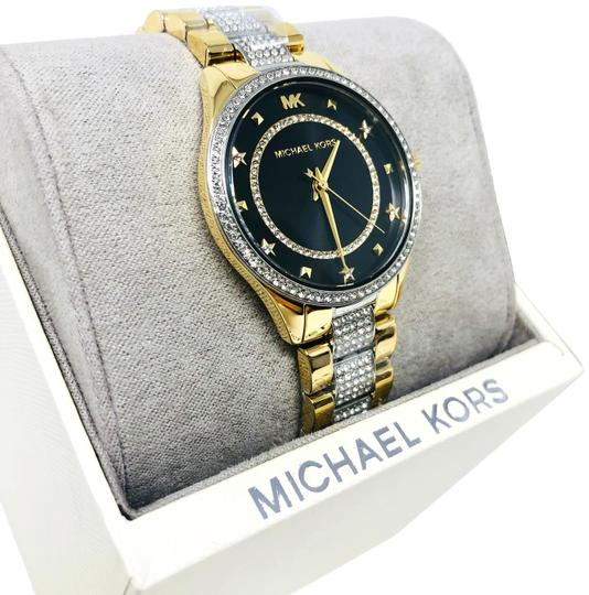 Preload https://img-static.tradesy.com/item/25947266/michael-kors-gold-tonetri-color-new-women-s-lauryn-pave-two-tone-stainless-steel-mk4403-watch-0-1-540-540.jpg