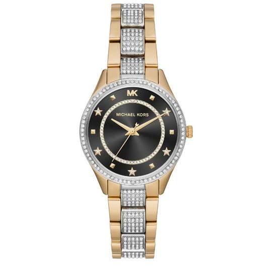 Michael Kors NEW Women's Lauryn Pavé Two-Tone Stainless Steel Watch MK4403 Image 2