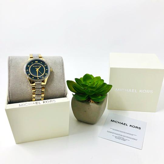 Michael Kors NEW Women's Lauryn Pavé Two-Tone Stainless Steel Watch MK4403 Image 3