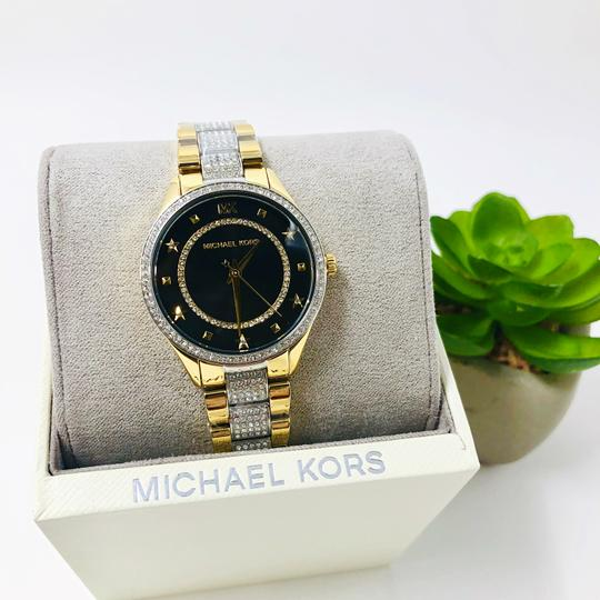 Michael Kors NEW Women's Lauryn Pavé Two-Tone Stainless Steel Watch MK4403 Image 4