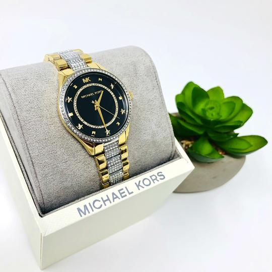 Michael Kors NEW Women's Lauryn Pavé Two-Tone Stainless Steel Watch MK4403 Image 5
