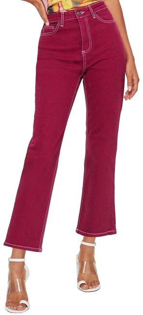 Preload https://img-static.tradesy.com/item/25947288/topshop-pink-moto-cassis-straight-leg-jeans-size-6-s-28-0-1-650-650.jpg