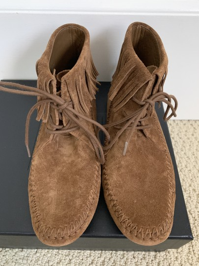 Tory Burch Suede Fringed Moccasin Brown Boots Image 10
