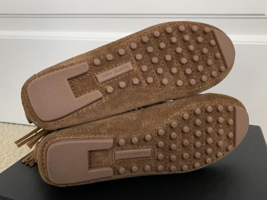 Tory Burch Suede Fringed Moccasin Brown Boots Image 2