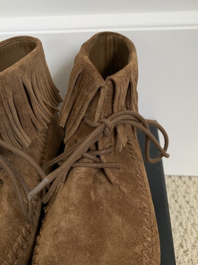 Tory Burch Suede Fringed Moccasin Brown Boots Image 3