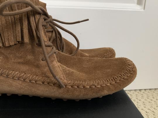 Tory Burch Suede Fringed Moccasin Brown Boots Image 4