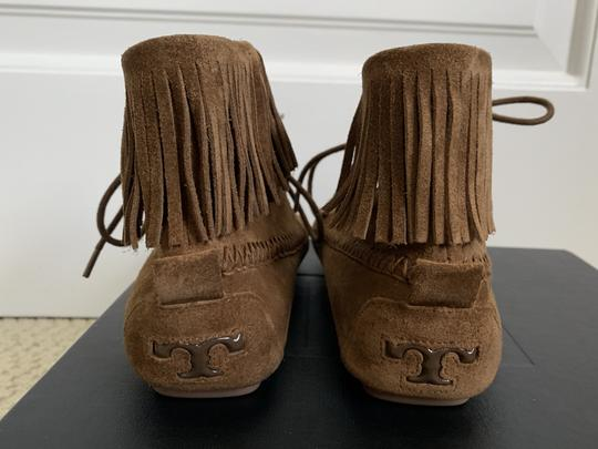 Tory Burch Suede Fringed Moccasin Brown Boots Image 6