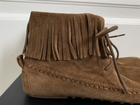 Tory Burch Suede Fringed Moccasin Brown Boots Image 8