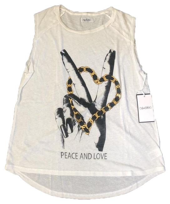 Preload https://img-static.tradesy.com/item/25947354/lauren-moshi-white-peace-and-love-tee-shirt-size-8-m-0-1-650-650.jpg