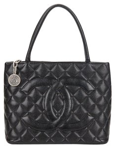 Chanel Medallion Vintage Tote in Black