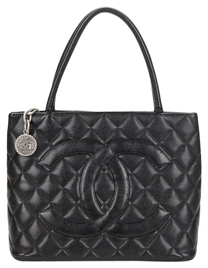 Chanel Medallion Vintage Tote in Black Image 0