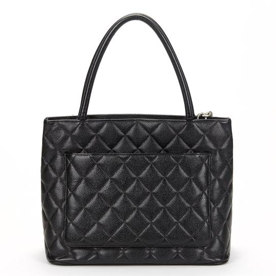 Chanel Medallion Vintage Tote in Black Image 1