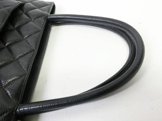 Chanel Medallion Vintage Tote in Black Image 4