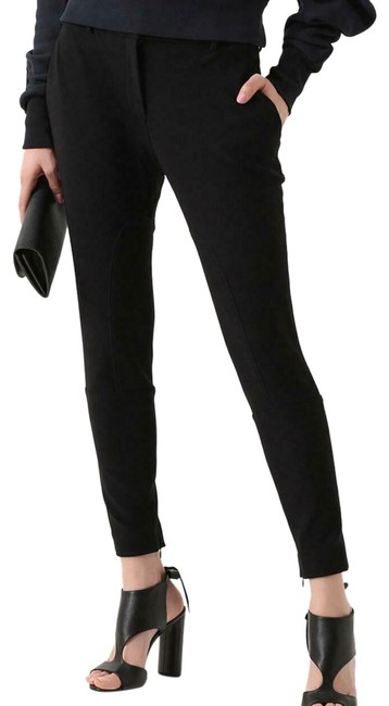 Item - Black W Stretchy Poly Trousers W/Zippers 08 Uk/40 Eu/06 Us 4050389 Leggings Size 6 (S, 28)
