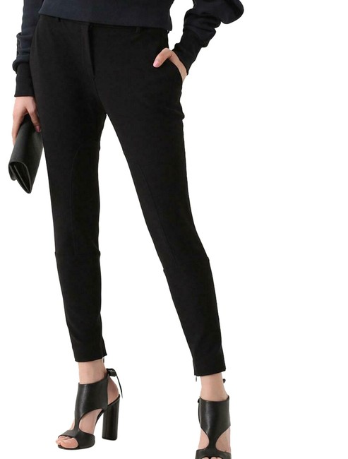 Item - Black W Stretchy Poly Trousers W/Zippers 10 Uk/42 Eu/08 Us 4050389 Leggings Size 8 (M, 29, 30)