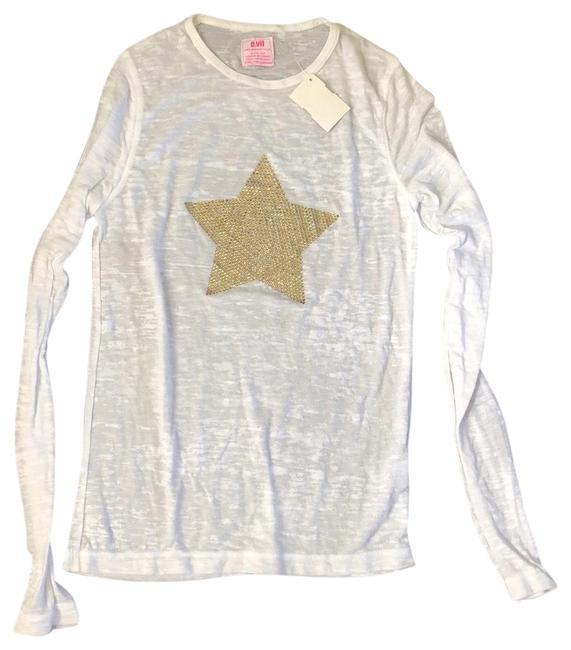 Preload https://img-static.tradesy.com/item/25947400/evil-white-gold-star-tee-shirt-size-4-s-0-1-650-650.jpg