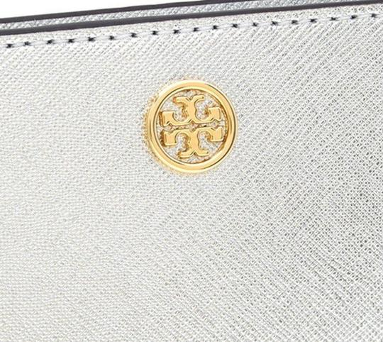 Tory Burch NEW Tory Burch Robinson Saffiano Leather Metallic Slim Bifold wallet Image 2