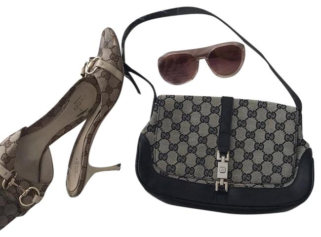 Gucci Shoulder Or Double Chain Or A Black Nylon and Box Calf Leather Cross Body Bag Gucci Shoulder Or Double Chain Or A Black Nylon and Box Calf Leather Cross Body Bag Image 1