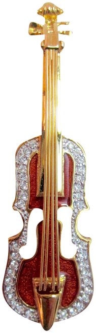 Joan Rivers Crystal Estate Pin Bass Cello Fiddle From Joan's Personal Collection Joan Rivers Crystal Estate Pin Bass Cello Fiddle From Joan's Personal Collection Image 1