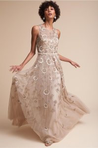 BHLDN Blush Verdure Vintage Wedding Dress Size 2 (XS)