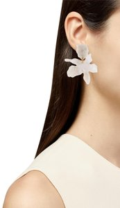 Lele Sadoughi cWhite Small Paper Lily Earrings