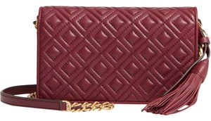 Tory Burch NEW TORY BURCH QUILTED CHAIN LEATHER WALLET CROSSBODY BAG PURSE NWT