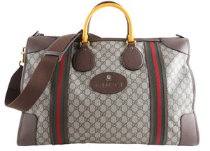 Gucci Leather Brown Travel Bag