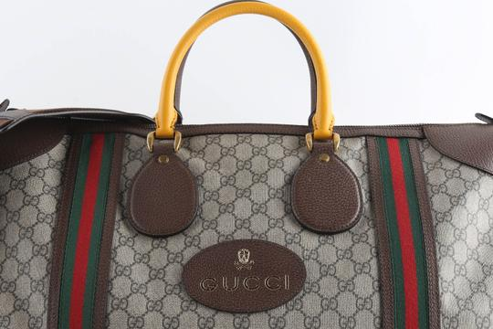 Gucci Leather Brown Travel Bag Image 1