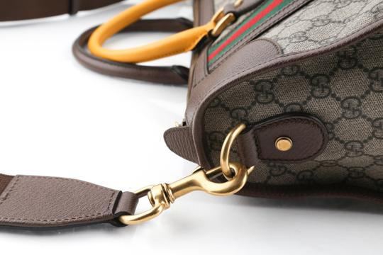 Gucci Leather Brown Travel Bag Image 10