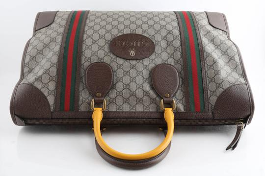 Gucci Leather Brown Travel Bag Image 2
