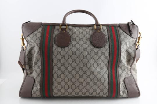 Gucci Leather Brown Travel Bag Image 3