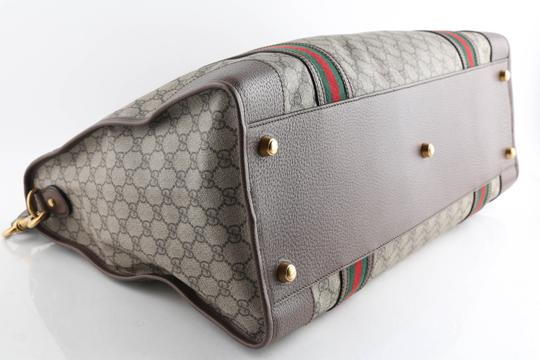 Gucci Leather Brown Travel Bag Image 4