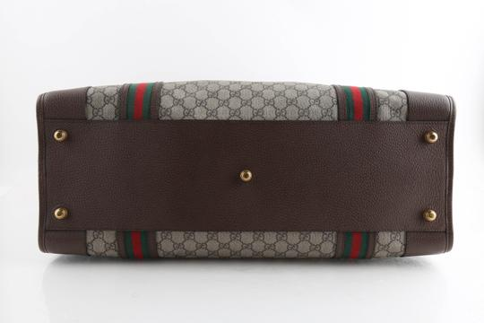 Gucci Leather Brown Travel Bag Image 5