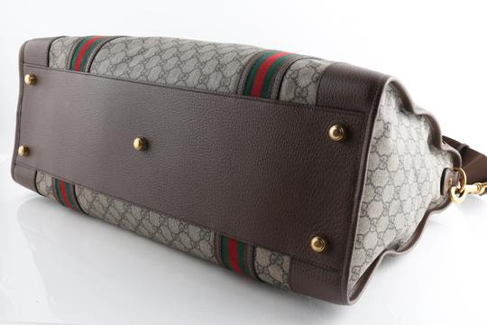 Gucci Leather Brown Travel Bag Image 6