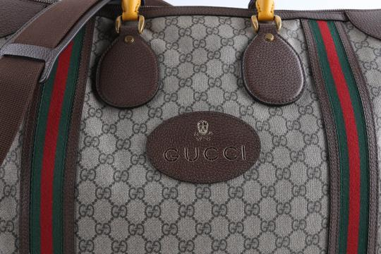 Gucci Leather Brown Travel Bag Image 7