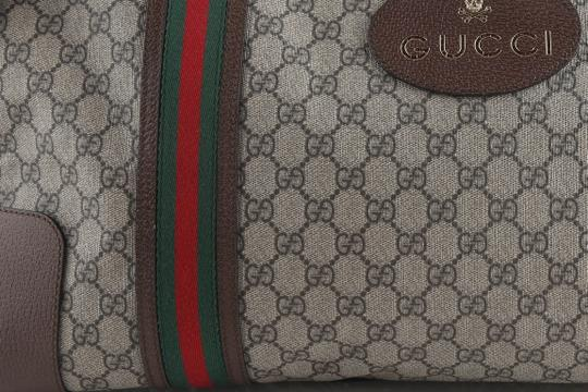 Gucci Leather Brown Travel Bag Image 8