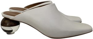 Neous Leather Pumps Lucite White Mules