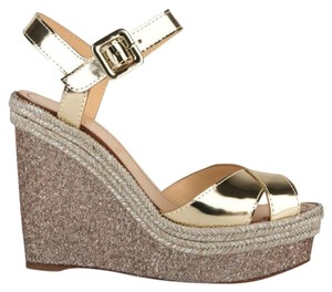 Christian Louboutin Glitter Glitter Sandals gold Wedges
