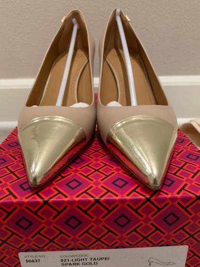 Tory Burch Light Taupe/Spark Gold Pumps Image 1