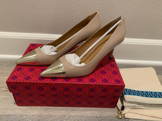 Tory Burch Light Taupe/Spark Gold Pumps Image 2