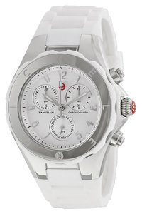 Michele Tahitian Jelly Silicone Stainless Chronograph MWW12F000032 Watch