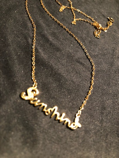 Rose Gold 18k Sunshine with Diamond Accents Weigh 2.73g Necklace Image 2