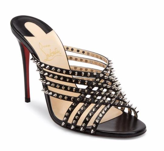 Preload https://img-static.tradesy.com/item/25948699/christian-louboutin-black-martha-spike-100mm-silver-spike-strappy-sandals-heels-c010-mulesslides-siz-0-0-540-540.jpg
