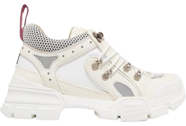 Item - Flashtrek Logo-embossed Leather Suede and Mesh Sneakers Size EU 38 (Approx. US 8) Regular (M, B)