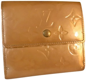 Louis Vuitton Golden Beige Vernis Leather Compact Wallet